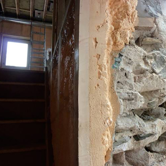 By Putting Closed Cell Foam On Interior Walls Of A Basement, You Create Air  Barrier And Higher R Value. Your House Becomes Warmer In Winter And Cooler  In ...