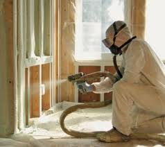 Spray foam worker